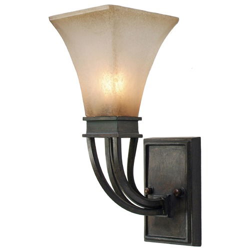 Golden Lighting Golden Lighting Genesis Roan Timber Sconce 1850-1W RT