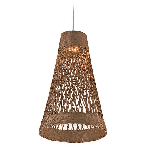 Maxim Lighting Maxim Lighting Bahama Natural LED Mini-Pendant Light with Bowl / Dome Shade 54370NA