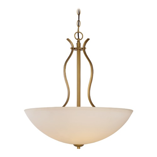 Nuvo Lighting Nuvo Lighting Dillard Natural Brass Pendant Light with Bowl / Dome Shade 60/5817