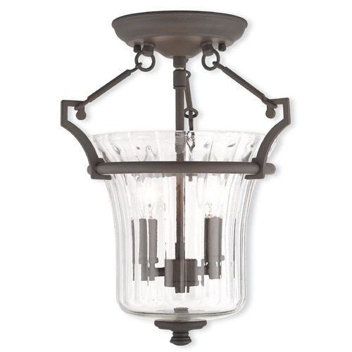 Livex Lighting Livex Lighting Cortland Bronze Semi-Flushmount Light 50921-07