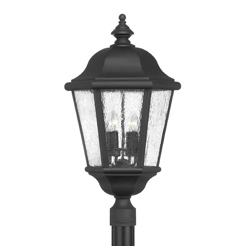 Hinkley Black LED Seeded Glass Post Light 27.75 Inches Tall by Hinkley 1677BK-LL