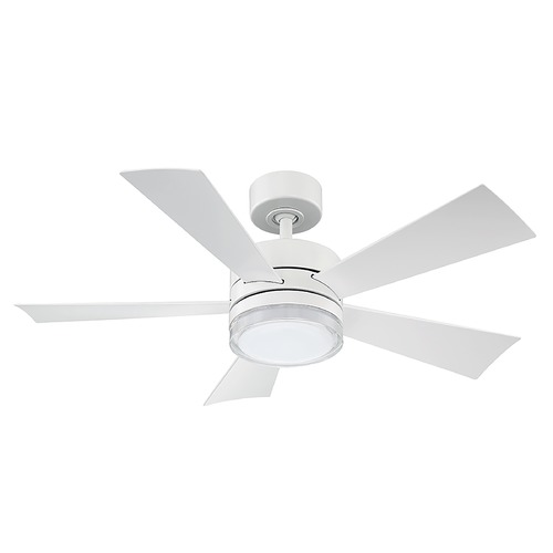 Modern Forms by WAC Lighting Modern Forms Matte White 42-Inch LED Smart Ceiling Fan 1600LM 3000K FR-W1801-42L-MW
