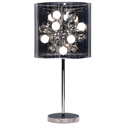 Adesso Home Lighting Modern Table Lamp with Grey in Chrome Finish 3260-22