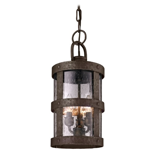 Troy Lighting Outdoor Hanging Light with Clear Glass in Barbosa Bronze Finish F3317