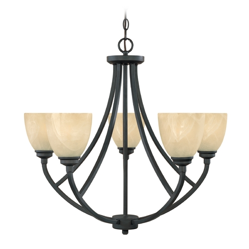 Designers Fountain Lighting Chandelier with Alabaster Glass in Burnished Bronze Finish 82985-BNB