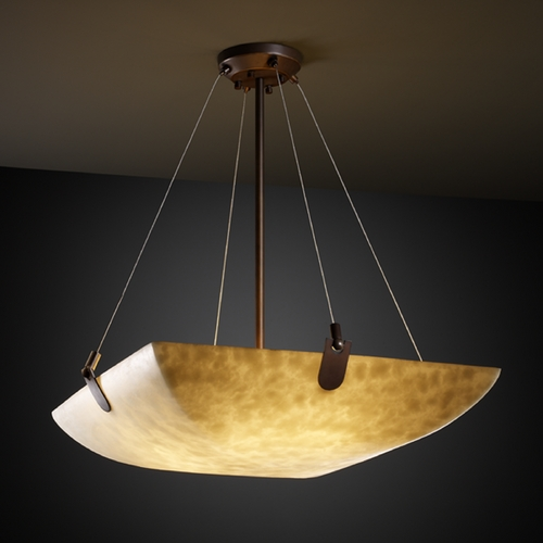 Justice Design Group Justice Design Group Clouds Collection Pendant Light CLD-9621-25-DBRZ