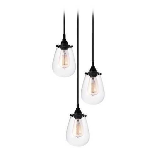 Sonneman Lighting Modern Multi-Light Pendant Light with Clear Glass and 3-Lights 4293.25
