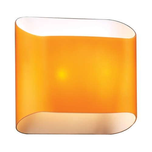 PLC Lighting Modern Sconce Wall Light with Amber Glass in Amber Finish 67015  AMBER