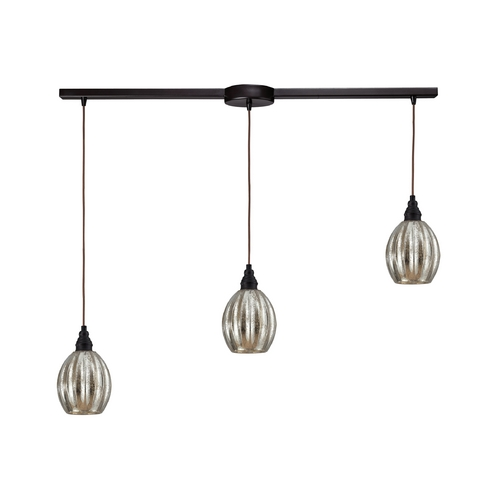 Elk Lighting Multi-Light Pendant Light with Mercury Glass and 3-Lights 46007/3L