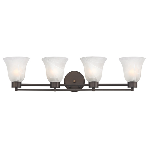 Design Classics Lighting Modern Bathroom Light with Alabaster Glass - Four Lights 704-220 GL9222-ALB