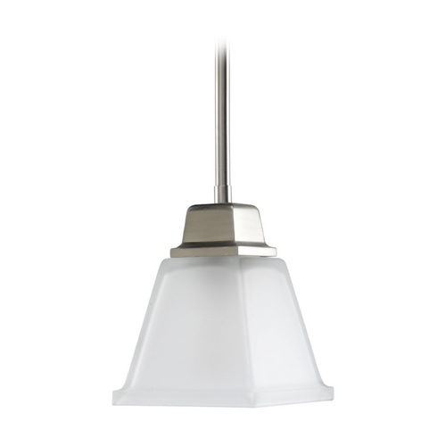 Progress Lighting Progress Mini-Pendant Light with White Glass P5135-09