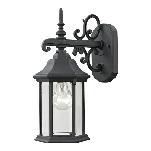Cornerstone Lighting Cornerstone Lighting Spring Lake Matte Textured Black Outdoor Wall Light 8611EW/65