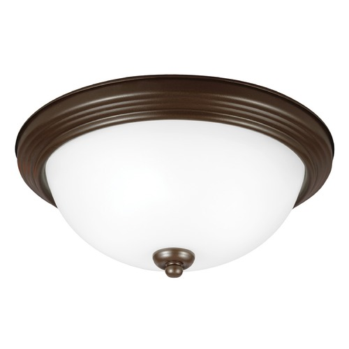 Sea Gull Lighting Sea Gull Lighting Ceiling Flush Mount Bell Metal Bronze LED Flushmount Light 7716491S-827