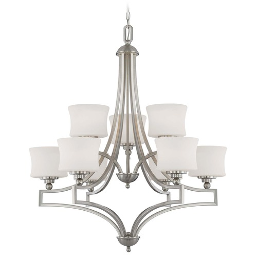 Savoy House Savoy House Satin Nickel Chandelier 1P-7211-9-SN