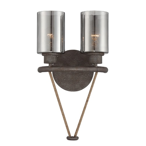 Savoy House Hammered Mercury Glass Sconce Bronze Savoy House 9-5153-2-32