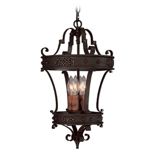 Capital Lighting Capital Lighting River Crest Rustic Iron Pendant Light 9354RI