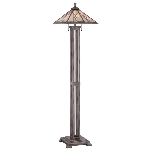 Quoizel Lighting Quoizel Cyrus Anniversary Silver Floor Lamp with Hexagon Shade MCCS9357AS