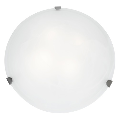 Access Lighting Access Lighting Mona Brushed Steel LED Flushmount Light 23021LEDD-BS/WH