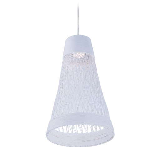 Maxim Lighting Maxim Lighting Bahama White LED Mini-Pendant Light with Bowl / Dome Shade 54370WT