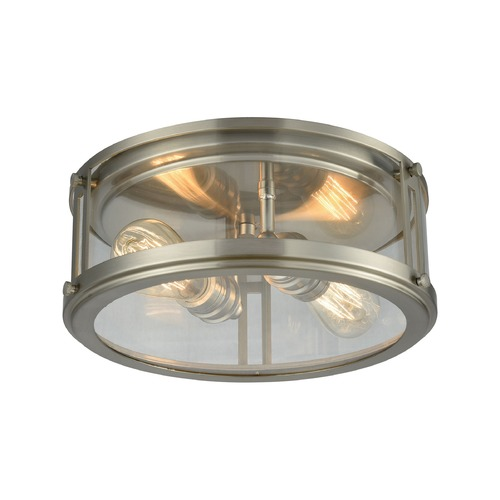 Elk Lighting Elk Lighting Coby Brushed Nickel Flushmount Light 11860/2