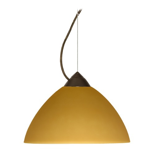 Besa Lighting Besa Lighting Tessa Bronze LED Pendant Light with Bell Shade 1KX-430180-LED-BR