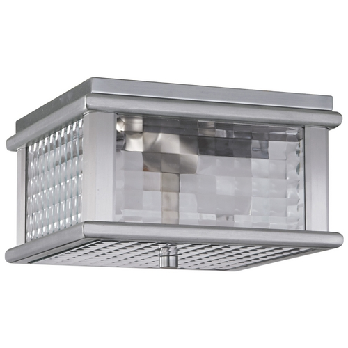 Feiss Lighting Close To Ceiling Light with Clear Glass in Brushed Aluminum Finish OL3413BRAL