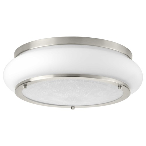 Progress Lighting Opal-Linen LED Brushed Nickel LED Flushmount Light 3000K 1574LM P350082-009-30