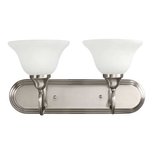 Kichler Lighting Kichler Bathroom Light with White Glass in Antique Pewter Finish 5557AP