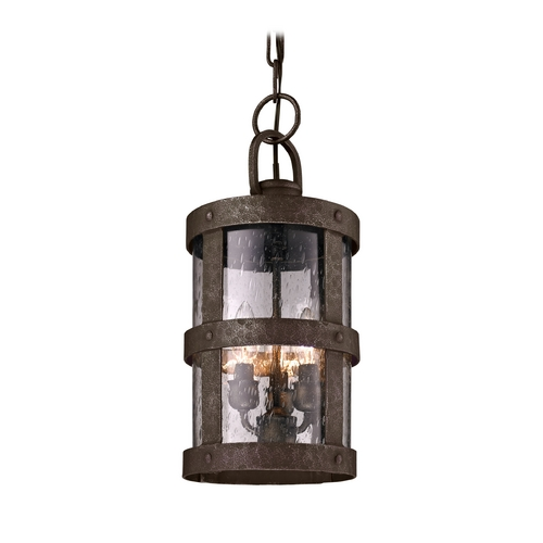 Troy Lighting Outdoor Hanging Light with Clear Glass in Barbosa Bronze Finish FF3317