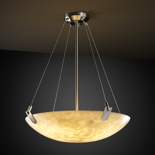 Justice Design Group Justice Design Group Clouds Collection Pendant Light CLD-9621-35-NCKL