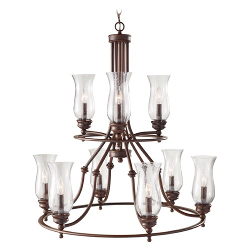 Feiss Lighting Feiss Lighting Pickering Lane Heritage Bronze Chandelier F2785/3+6HTBZ