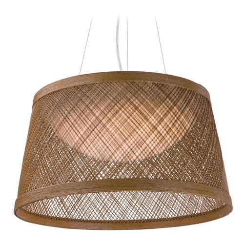 Maxim Lighting Maxim Lighting Bahama Natural LED Pendant Light with Empire Shade 54372NA