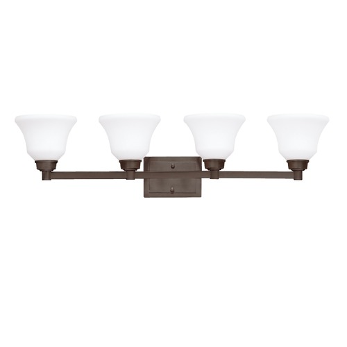 Kichler Lighting Kichler Bathroom Light with White Glass in Olde Bronze Finish 5391OZ