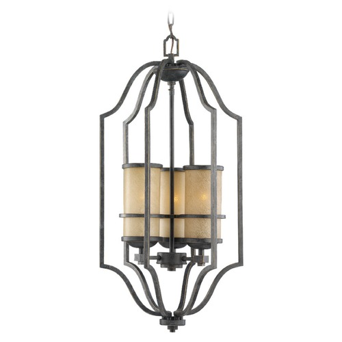 Sea Gull Lighting Sea Gull Lighting Roslyn Flemish Bronze Pendant Light with Cylindrical Shade 51521BLE-845