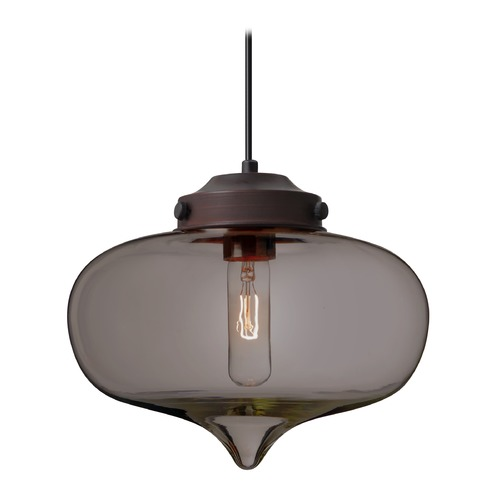 Besa Lighting Besa Lighting Mira Bronze Pendant Light with Oblong Shade 1JT-MIRATM-BR