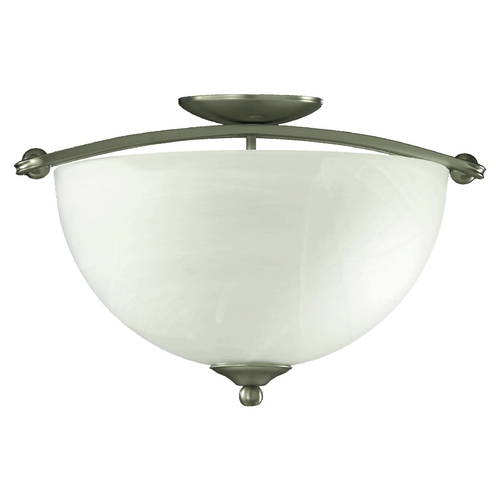 Quorum Lighting Quorum Lighting Hemisphere Satin Nickel Semi-Flushmount Light 622-17-65