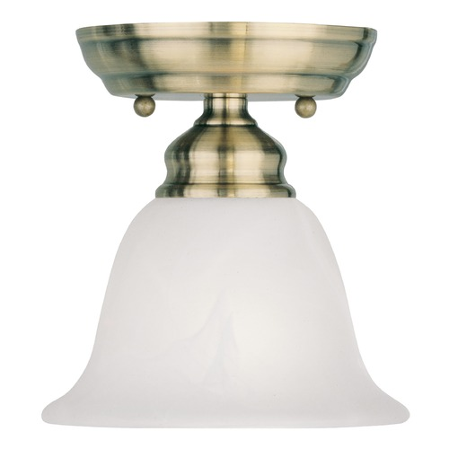 Livex Lighting Livex Lighting Essex Antique Brass Semi-Flushmount Light 1350-01