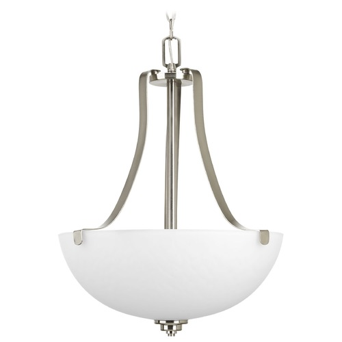 Progress Lighting Progress Lighting Legend Brushed Nickel Pendant Light with Bowl / Dome Shade P3505-09