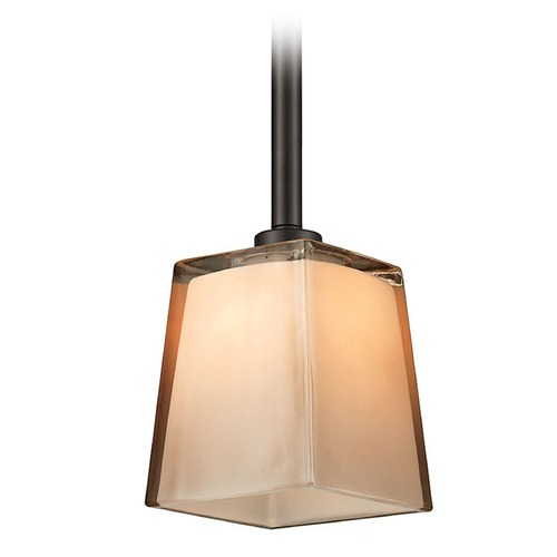 Elk Lighting Elk Lighting Serenity Oil Rubbed Bronze Mini-Pendant Light with Square Shade 11479/1