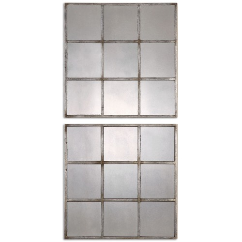 Uttermost Lighting Uttermost Derowen Squares Antique Mirrors Set of 2 13935