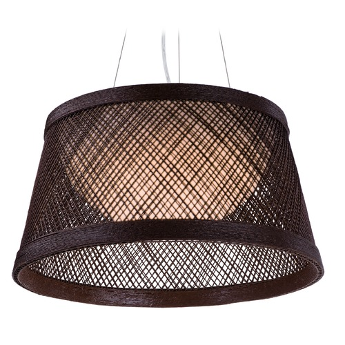 Maxim Lighting Maxim Lighting Bahama Chocolate LED Pendant Light with Bowl / Dome Shade 54372CH