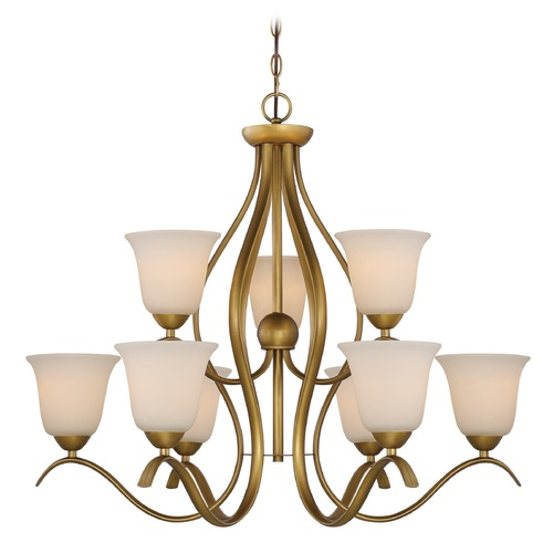 Nuvo Lighting Nuvo Lighting Dillard Natural Brass Chandelier 60/5819