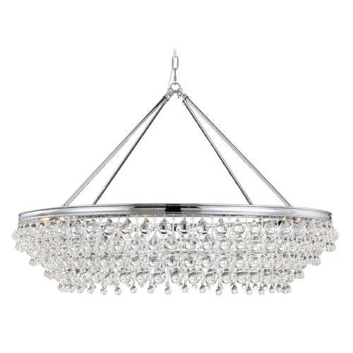 Crystorama Lighting Crystorama Lighting Calypso Polished Chrome Pendant Light 278-CH