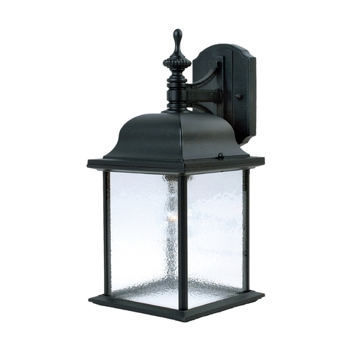 Maxim Lighting Seeded Glass Outdoor Wall Light Black Maxim Lighting 1056BK