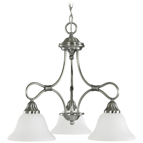 Kichler Lighting Kichler Chandelier with White Glass in Antique Pewter Finish 2556AP