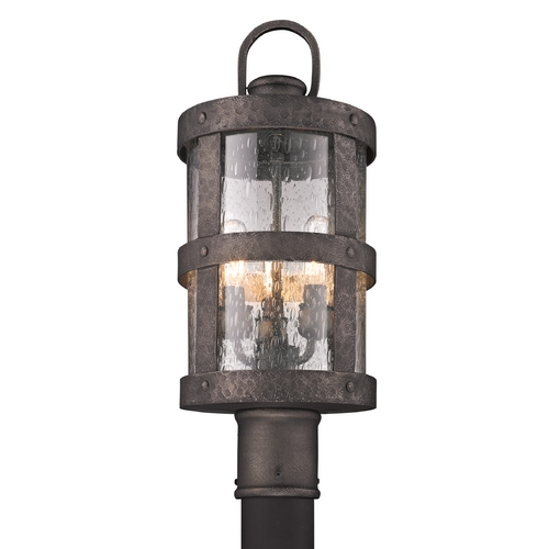 Troy Lighting Post Light with Clear Glass in Barbosa Bronze Finish P3316