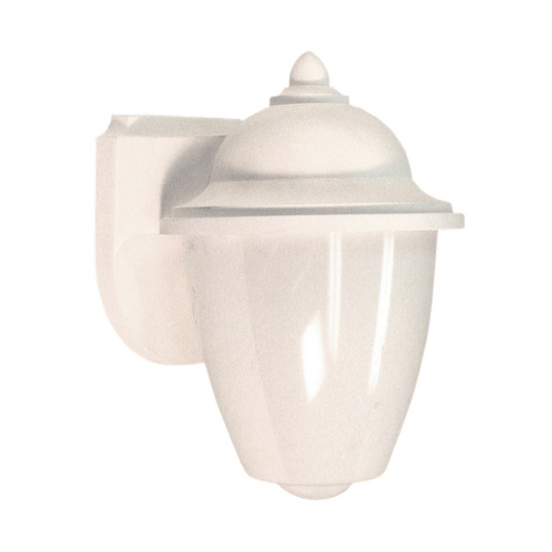 Sea Gull Lighting Outdoor Wall Light with White Glass in White Finish 88018-15