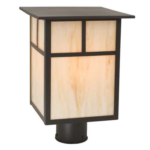 Design Classics Lighting Craftsman Style Outdoor Post Light 13-Inches Tall 397 BZ/HG
