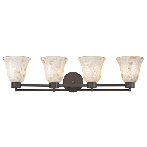 Design Classics Lighting Bathroom Light with Mosaic Glass - Four Lights 704-220 GL9222-M