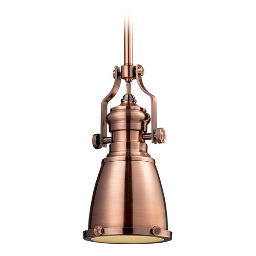 Elk Lighting Elk Lighting Chadwick Antique Copper LED Mini-Pendant Light with Bowl / Dome Shade 66149-1-LED